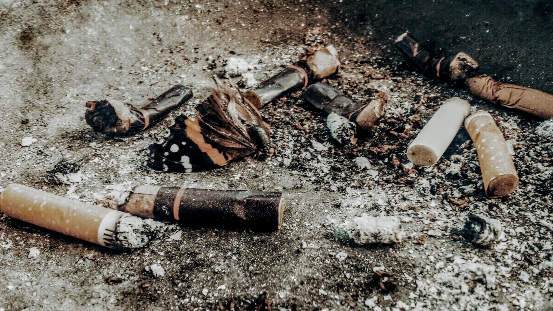 Izplatīts atkritums – cigaretes izsmēķis