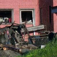 Jēkabpils viesnīcas teritorijā sprādzis apkures katls