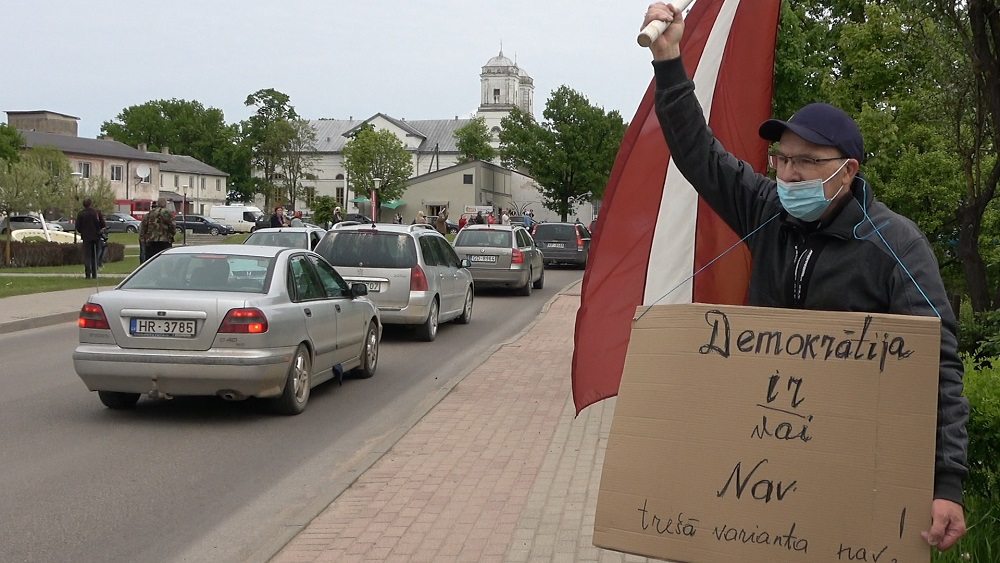 Varakļānos protestē pret Saeimas lēmumiem