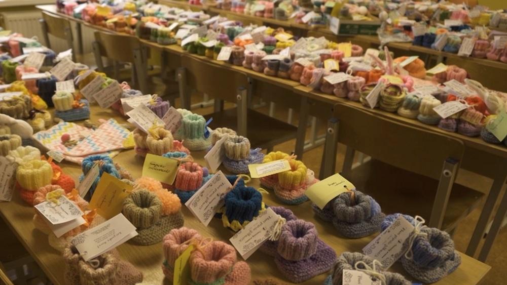 800 zābaciņu dāvinājums Dzemdību nodaļai Madonā