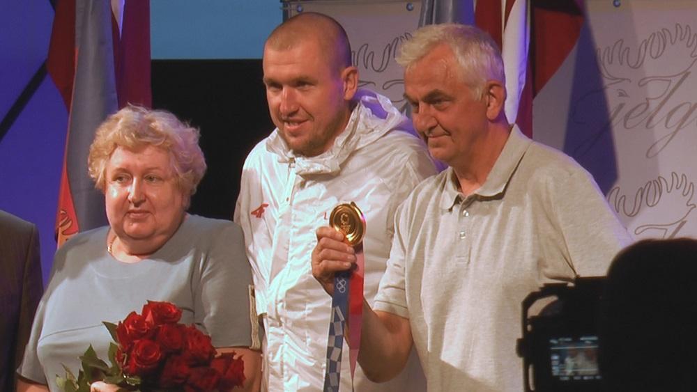 Jelgava sagaida savu olimpisko čempionu