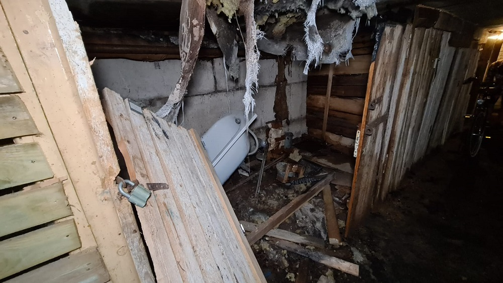 Valmierā aizdegas pagrabs; tajā nebija ierīkoti detektori