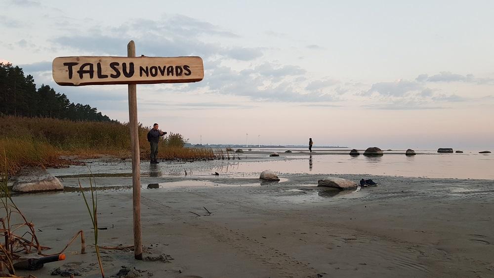 Talsu fotoklubs iemūžina atgūto jūras robežu